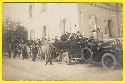 cpa CARTE PHOTO Real Photo Post Card AUTOMOBILES CAR VOITURES vers 1900