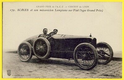 CPA LYON 1914 FRENCH GRAND PRIX The BRITISH DRIVER John SCALES sur Voiture FIAT