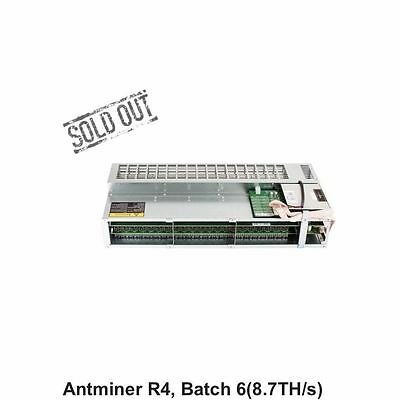 Bitmain AntMiner R4 8.7 TH/s Super Quiet Home Bitcoin Miner With EVGA PSU 1000G2