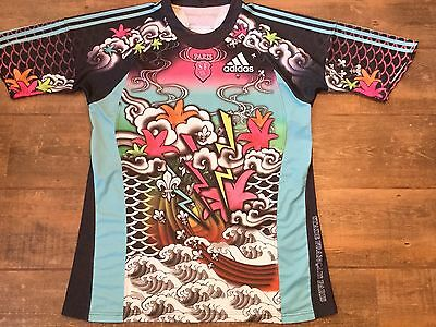 2009 2010 Stade Francais Rugby Union Shirt Adults XXL 2XL Maillot Jersey