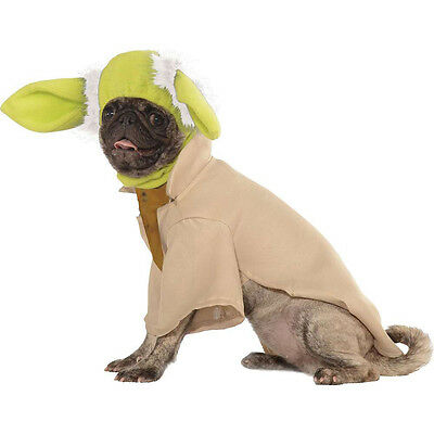 Star Wars Pet Yoda Costume Jedi Master 4 sizes The Force is Strong in this 1 fnt