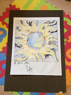 Signed and numbered Roy Harper Burn the World Limited edition Erica Paton print