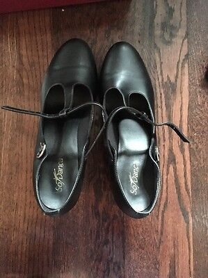 So Danca Size 10 Black Character Shoes