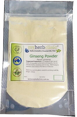 Panax Ginseng Powder Naturopathically Prepared ~ Body Building ~ Adaptogen