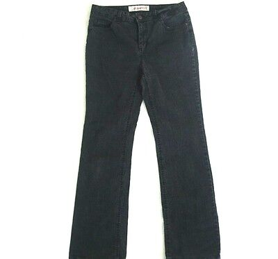 Womens Boot Cut Black Jeans Size 8 W31 L31 Stretchy Faded Glory Pants