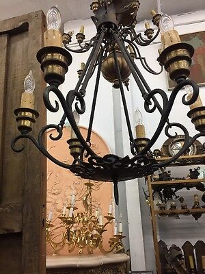 Spanish Revival Style  Iron Chandelier Spanish Mediterranean