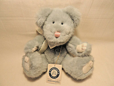 BABY BOYD'S - WOOKIE SNICKLEFRITZ - Grey Soft Furry Bear - Jointed w/ Tags