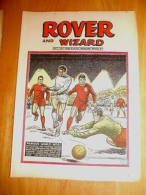 LIVERPOOL v FERENCVAROS INTER CITIES FAIRS CUP 67/8 COVER ON ROVER COMIC 1968