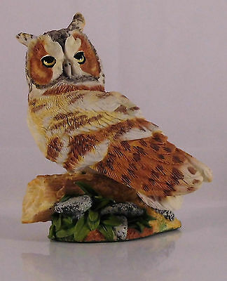 Franklin Mint World Of Owls Long Eared Owl Eule Figur #3