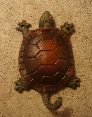 RUSTIC CAST IRON TURTLE TAIL BATHROOM KITCHEN TOWEL HOOK HANGER Home Decor NEW