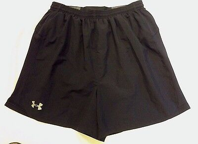 Mens UNDER ARMOUR DRAFT Black Running/Training Shorts Size M