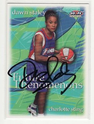 Dawn Staley Wnba Charlotte Sting Autographed Card