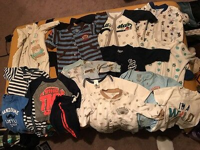 LOT of Baby Boy 0-3, 3, 3-6 Months Clothes Carters 15 Items