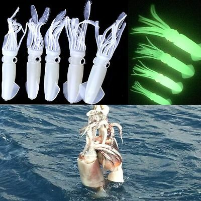 10pcs Squid Skirt Lure Soft Silicone Fishing Tackle Saltwater Octopus Bait