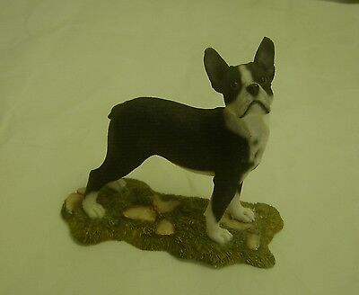 Boston Terrier Dog Figurine by S & S Country Artists  4 1/2""