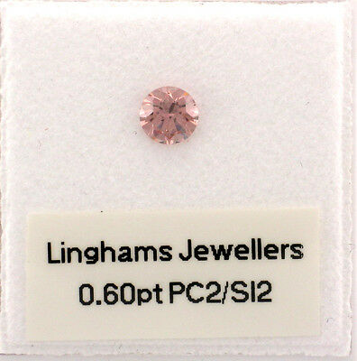 Natural Argyle Pink Diamond 1x0.60ct PC2/Si2 RBC