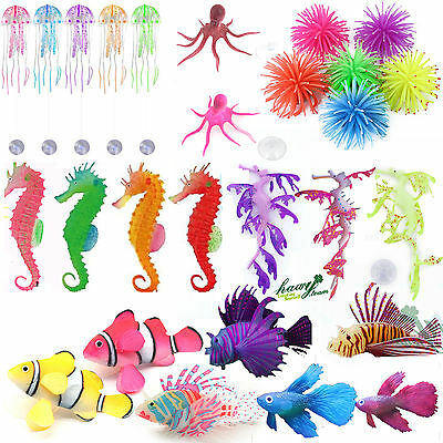 Aquarium Fish Tank Landscaping Animal Plant Plastic Ornament Water Decoration