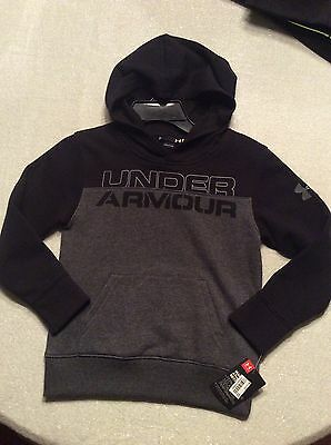 Under Armour Youth Boys Carbon Heather Gray & Black Size 7 Youth