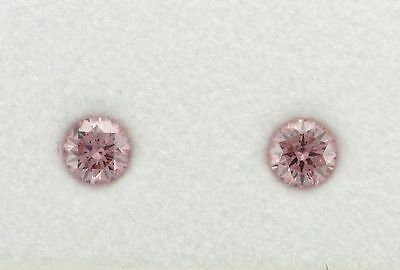 Natural Argyle Pink Diamond 2=0.25pt 6PP/Si RBC