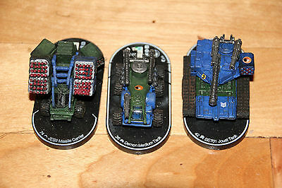 Swordsworn Vehicle set demon BE701 joust jesII missile Mechwarrior Clix
