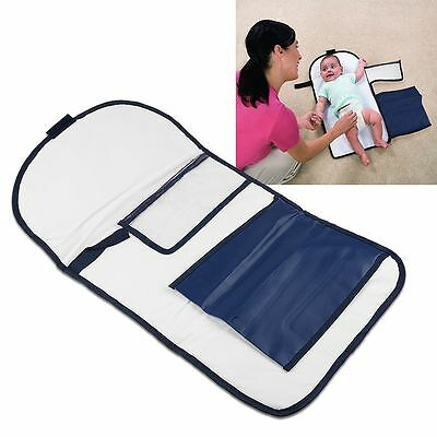 Baby Changing Nappy Mat~Waterproof Base Padded Portable Folding Bag Clean