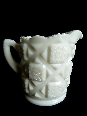Westmoreland White Milk Glass Old Quilt Pattern Replacement 6 oz. Creamer