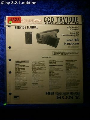 service manual sony ccd f450e video camera