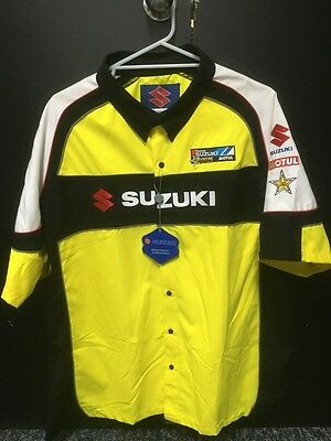 Genuine Suzuki Offroad Pit Shirt Yellow adults