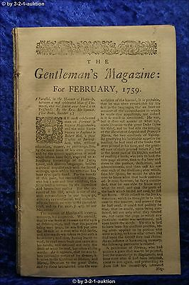 The Gentleman's Magazine February 1759 St. John's Gate