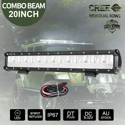 20 inch CREE LED Light Bar & 23'' Number Plate Frame & DT Wiring Harness Kit