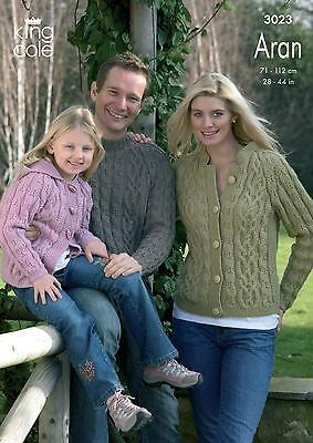 King Cole Ladies /& Mens Cardigan /& Sweater Merino Knitting Pattern 43...