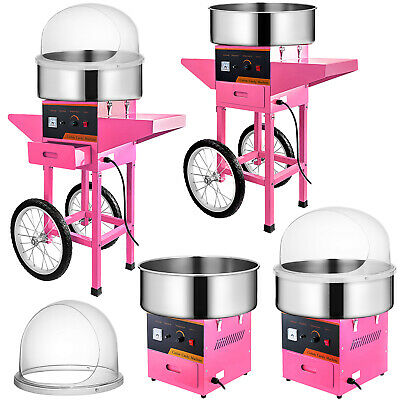 Electric Cotton Candy Machine/Cover Cart Candy Sugar Floss Maker Commercial DIY