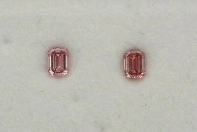 Natural Argyle Pink Diamond 2=0.15ct 5PR/Si Emerald Cut