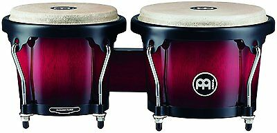 Meinl Percussion 6 3/4-inch and 8-inch Bongo - Wine Red Burst - HB100WRB