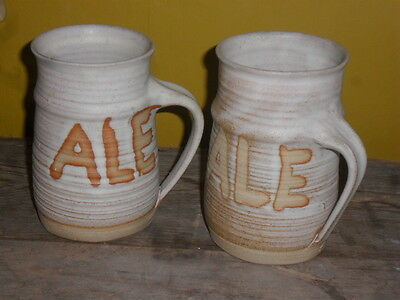 Vintage Cornish Studio Pottery Ale Tankard X 2 *FREE POST AND PACKAGING