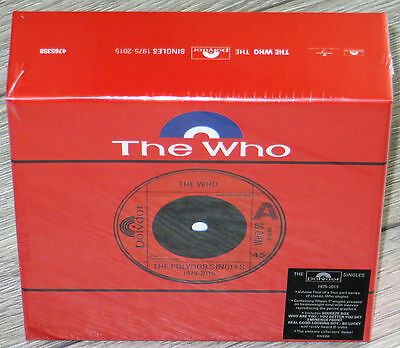 """THE WHO - The Polydor Singles 1975-2015 Box Set - NEW & SEALED - 15 x 7"""" Singles"""