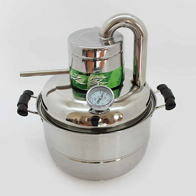 NEW! 10L Whisky/Vodka/Wine Maker Alcohol Distiller Home Brew Liquor Distiller