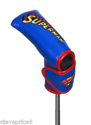 New Official Dc Comics Superman Golf Blade Putter Cover.