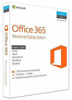 Microsoft Office 365 Personal, 1 year, ESD (English) (1x PC/MAC)