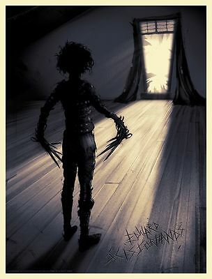 Edward Scissorhands print by Sam Wolfe Connelly. Limited Edition like Mondo Rare