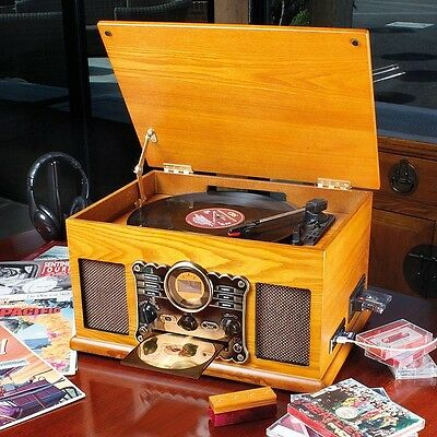 Music Centre with DAB/FM Radio (Feat. Vinyl Turntable, CD, Cassette Player etc).