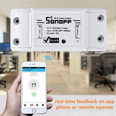 Sonoff Dual-Itead Smart Home WiFi Wireless Switch Module for Apple Android RC1 U