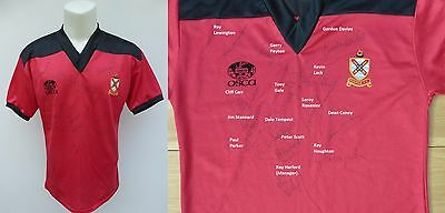 1982-83 Original Fulham Away Shirt Signed by Squad COA + Signature Map (11014)
