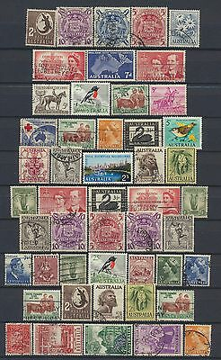 No: 48936 - AUSTRALIA - LOT OF 49 OLD STAMPS - USED!