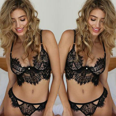 Women Sexy/Sissy Lingerie Lace Bra Top G-string Set Babydoll Underwear Chemise