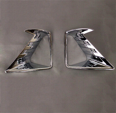 Fit For 16-17 Car Toyota Rav4 Chrome Front Fog Light Head Lamp Cover Trim Bezel