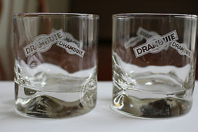 Drambuie Glasses - Set of 2 - Heavy Glass - Excellent Condition