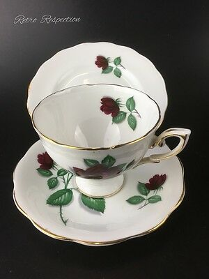 VINTAGE Royal Standard Teacup Trio - Red Velvet