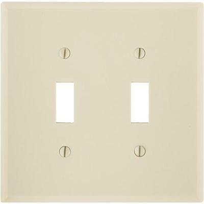 25 Pk Leviton Ivory Oversized 2 Gang Light Switch Wall Plate Cover 001-86109