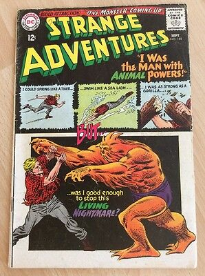 STRANGE ADVENTURES #180 - 1st ANIMAL MAN APPEARNCE - DC COMICS SEPTEMBER 1965